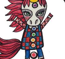 Align & Shine: Cute Unicorn Chakra Illustration Watercolor Sticker