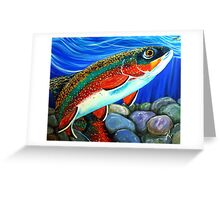 Brook Trout Fish Fly Fishing  Greeting Card
