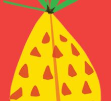 Red Hot Pineapple Sticker