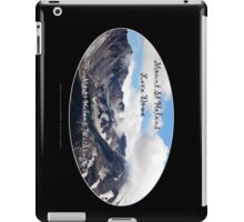 Mount St Helens lava dome 2 oval iPad Case/Skin