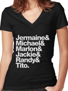 The Jacksons - Don't Forget About Randy! Women's Fitted V-Neck T-Shirt