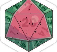 Fruit Dice set, watermelon variant Sticker