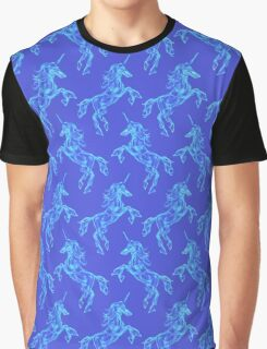 Air unicorn. Smoke texture pattern. Mythology creature Graphic T-Shirt