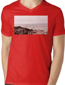 view from the Astoria Column Astoria–Megler Bridge 2 Mens V-Neck T-Shirt