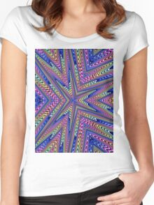 6 Point Abstract Women's Fitted Scoop T-Shirt