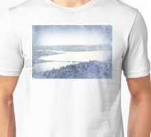 view from the Astoria Column Old Youngs Bay Bridge Unisex T-Shirt