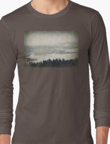 view from the Astoria Column Youngs Bay Long Sleeve T-Shirt
