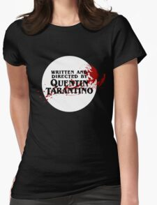 Quentin Tarantino (Transparent) Womens Fitted T-Shirt
