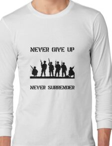 Never Give Up Military Long Sleeve T-Shirt