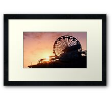 Del Perro Pier Sunset - GTA V Framed Print