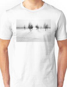 Landscape in snow Unisex T-Shirt