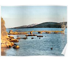 Arzachena: seascape with stones Poster