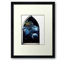 Whovian window :)  Framed Print
