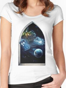 Whovian window :)  Women's Fitted Scoop T-Shirt