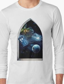 Whovian window :)  Long Sleeve T-Shirt