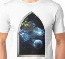 Whovian window :)  Unisex T-Shirt