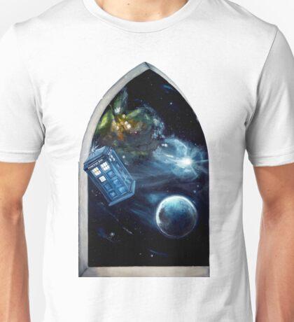 Whovian window :)  Unisex T-Shirt