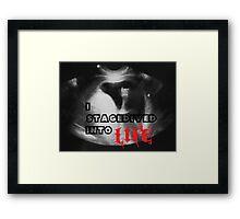 Rock - I stagedived into Life Framed Print