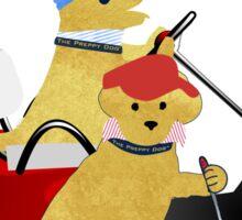 Preppy Dogs Golf Sticker