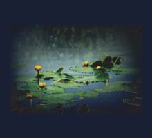 lily pads in the rain at Vernonia Lake One Piece - Short Sleeve