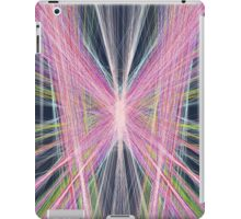 Linify Pink butterfly on dark background iPad Case/Skin