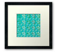 Snow Leaves Framed Print
