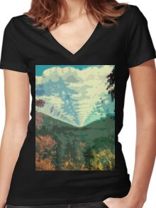 Innerspeaker Women's Fitted V-Neck T-Shirt