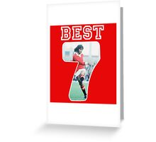 GEORGE BEST Greeting Card