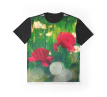 Red Poppies in Vibrant Summer Meadow Graphic T-Shirt