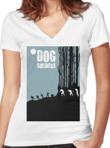 DOG SOLDIERS Women's Fitted V-Neck T-Shirt
