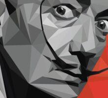Salvador Dali geometric low-poly portrait Sticker