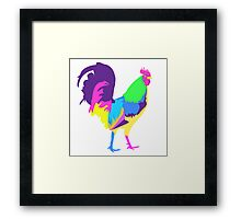 Psychedelic Chicken Framed Print
