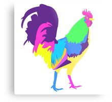 Psychedelic Chicken Metal Print