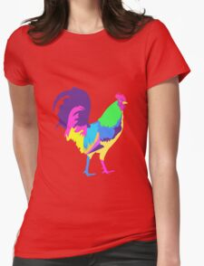 Psychedelic Chicken Womens Fitted T-Shirt
