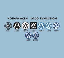 Volkswagen Logo Evolution Baby Tee