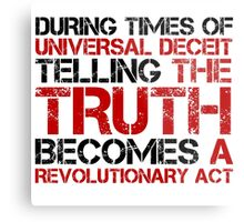 George Orwell Quote Truth Freedom Free Speech Metal Print