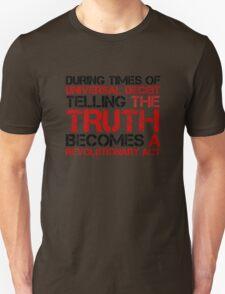 George Orwell Quote Truth Freedom Free Speech Unisex T-Shirt