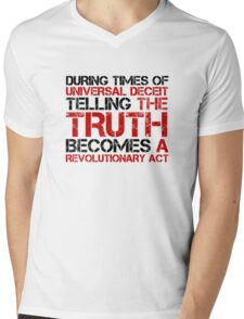 George Orwell Quote Truth Freedom Free Speech Mens V-Neck T-Shirt
