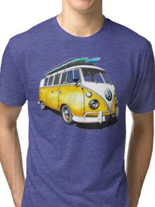 VW Bus Sunshiney day Tri-blend T-Shirt