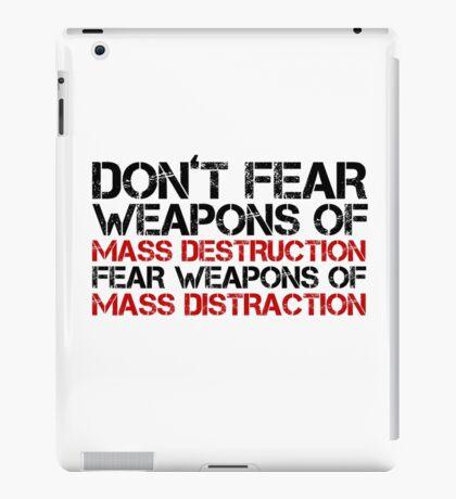 Mass Media Lies Distraction Truth Free Speech iPad Case/Skin