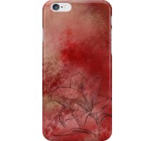 Lily in Red iPhone Case/Skin