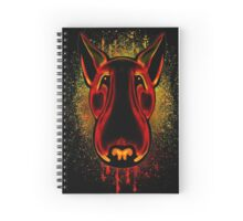 Splatter Bull Terrier  Spiral Notebook