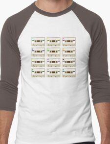 Retro Cassette Tape Print Men's Baseball ¾ T-Shirt