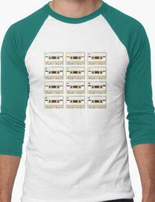 Retro Cassette Tape Print Men's Baseball ¾ T-Shirt