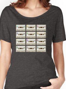 Retro Cassette Tape Print Women's Relaxed Fit T-Shirt