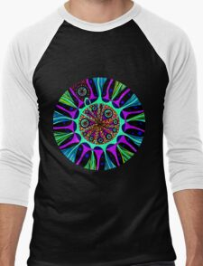 Psychedelic Abstract Colourful 104 Crest Men's Baseball ¾ T-Shirt