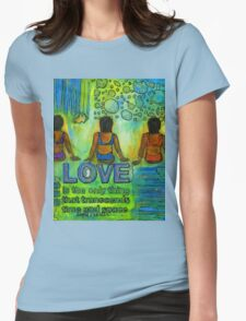 Three on the Beach Womens Fitted T-Shirt