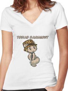 Tobias Sammeowt Women's Fitted V-Neck T-Shirt