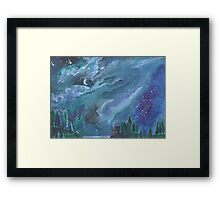 The Forest at Night Framed Print