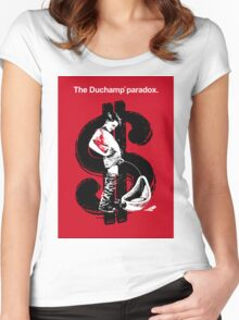The Duchamp Paradox Women's Fitted Scoop T-Shirt
